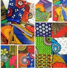 MULTI-COLOURED AFRICAN COTTON PRINT FABRIC.*CRAFT MAKING* FAT QUARTER BUNDLE 👌