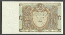 Poland 50 Zlotych 1929  AU-UNC P. 71  Banknotes, Uncirculated