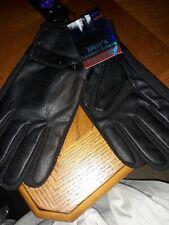 Men's Insulated Leather Gloves, Light Fleece Lining For Winter, Black XXL