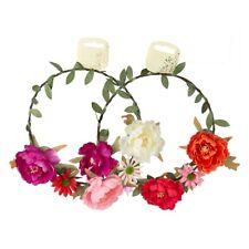 Flower Headband Girls Floral Crown Hairband Wedding Party Hair Garland Beach