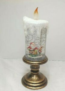 Christmas LED Glitter Candle Xmas Santa  Lamp Home Gift Decoration 1870-1