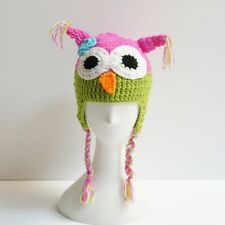 Baby & Toddler Beanie Crocheted Owl Hat with Ear Flaps 6 - 24 months