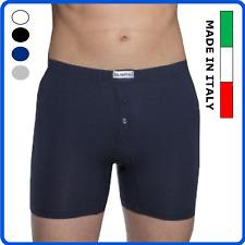 Boxer uomo gamba lunga con apertura in cotone elasticizzato mutande taglie forti