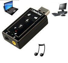 External USB 2.0 to 3D Virtual Audio Sound Card Adapter Headphone Mic Converter