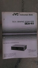 JVC sea-40 owners manual instruction original book stereo graphic equalizer eq