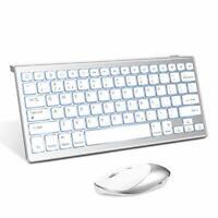 English QWERTY Layout Wireless Backlit Keyboard & Mouse - Stylish, Slim Design