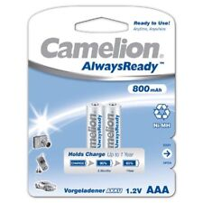 2x NiMH-batería 1,2v de 800 mah micro AAA hr03 ready to use Always Ready Camelion
