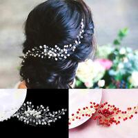 Women Bride Bridal Hair Comb Hair Clip Wedding Party Headwear Pearl Fashion