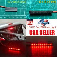 1* Full LED Brake Light Bar Set For 1/10 Traxxas TRX-4 Axial SCX10 II D90 RC Car