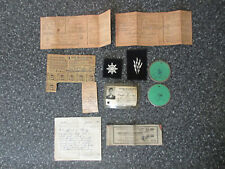 Vintage WWII U.S. Navy Military Identification Card + Patches & Papers Lot