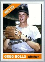 GREG BOLLO CHICAGO WHITE SOX 1966 STYLE CUSTOM MADE BASEBALL CARD BLANK BACK