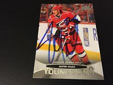 Justin Faulk 2011-12 Upper Deck Young Guns Rookie Hockey Signed Auto Card