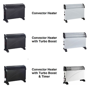 Convector Heater With Turbo Boost and Timer 2000w Portable Electric Thermostat