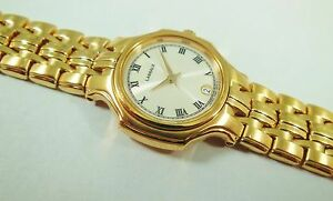 Lassale by Seiko Gold Tone Stainless Steel 4N89-0670 Sample Watch NON-WORKING