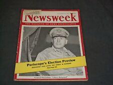 1944 OCTOBER 30 NEWSWEEK MAGAZINE - GENERAL MACARTHUR - NW 23
