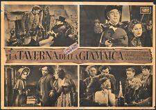 fotobusta LA TAVERNA DELLA GIAMAICA  ALFRED HITCHCOCK LAUGHTON O'HARA