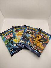 Pokemon XY Evolutions Art Set 4 booster packs NEW SEALED