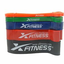 xFitness Pull Up Assist Resistance Bands For CrossFit - Full Set of 5 Bands