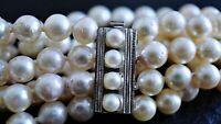 vintage Akoya Zucht Perlen Armband 835 Silber ca. 48,83 Gramm