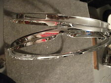 "Pair (2) Brand New 16"" Chrome Drum Hoops. 8 Hole Rims for Batter Heads. 2.0 mm"