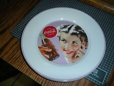 "New Coca Cola Retro Vintage Style Ladies Ceramic 8"" Salad Plate"