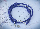 Nautical Rope bracelet - Fish Hook :: Blue - Gifts for sailors
