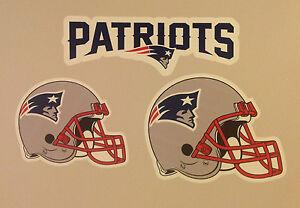 "New England Patriots FATHEAD Lot/3 Graphics Rare 14"" Banner + 10"" & 12"" Helmets"