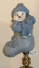 Snow Buddies in a Sock Lamp Shade Finial-New-Handcrafted by Lamp Shades Plus