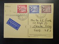 Germany Berlin SC# 9N145 - 9N147 On Postcard 22/9/57 CDS - Z6529