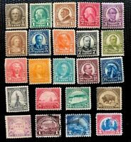 1922-25 US Stamp SC#551-573 Regular Issue Flat Printing Full Set CV:$284.4