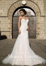 Brautkleid Hochzeitskleid Gr. 36/38 langgezogene A Linie / Meerjungfrau Loretti