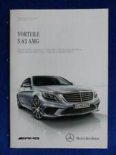 Mercedes-Benz Vorteile S 63 AMG S-Klasse Limousine - Prospekt Brochure 07.2013