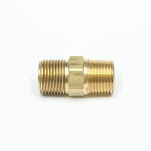 Hex Nipple Brass 3/8 Male Npt Pipe Fitting Equal Air Fuel Oil Gas Water FasParts