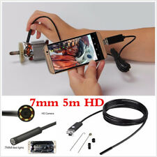 Endoscope 2In1 USB 7mm 5M 6LED Autos Endoscope HD Inspection Camera For Android