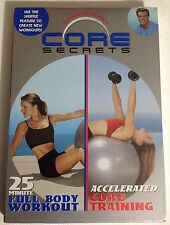 Core Secrets 25 Min Full Body Workout & Accelerated Core Training (DVD) New