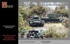 Pegasus 1/72nd Scale WWII Soviet KV1 Mod 1940 & KV2 Tanks Model Kit 7665 NEW!