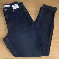 BNWT Topshop Blue Black Mom Jeans - W26 L32 - UK 8