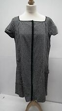 Black and White Foral Check Dress from Gap size 16