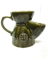 Vintage Lord Nelson Olive Green Pottery Shaving Scuttle Mug Jug FL 24