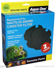 Aqua One- 35 Micron Fine Filter Pad 2 Pk 82s (25082s) (For Nautilus 600/800)