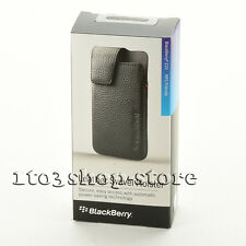 BlackBerry Z10 Leather Swivel Holster w/Belt Clip Slip Pouch Case Black OEM NEW