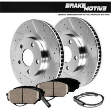 Front Drilled Slotted Brake Rotors & Ceramic Pads BMW 535 Series Active Hybrid 5