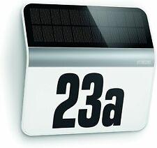 Steinel Solar House Number Light XSolar LH-N - Stainless Steel Solar Light