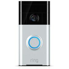 Кольцо Wi-Fi и смартфон с поддержкой видео дверной звонок сатинированный никель R8VRS5-SEN0