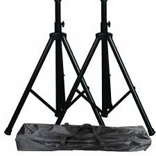 Pro audio speaker stands pair carrying bag DJ tripod adjustable height