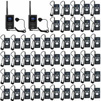 Wireless Tour Guide System for Meeting/Church 2*FM Transmitter+50*Radio Receiver