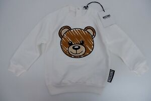 Moschino Baby Boys BRAND NEW Jumper Top Age 18-24 M Teddy Print White