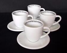 SET OF 4 KONITZ WHITE,DISHWASHER PROOF MIRAGE 'COFFEE BAR' ESPRESSO CUP & SAUCER