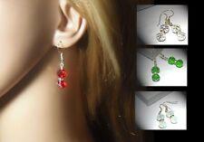Handmade Sparkly Rondelle Crystal Earrings