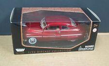 Motormax 73200 1:24 1949 Mercury Coupe Metallic Red MIB Diecast